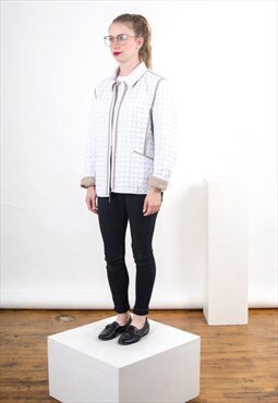 Reversible Quilted Jacket / Beige and White Vest