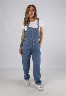Vintage Denim Dungarees Wide Straight Leg UK 10 - 12 (H2M)