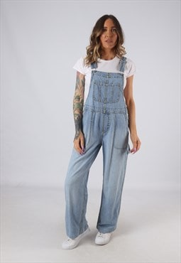 Denim Dungarees Wide Leg LONDON JEAN UK 10 (HK4C)