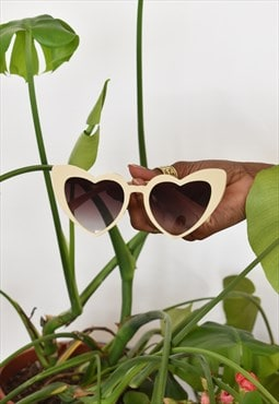 Vintage heart-shaped sunglasses