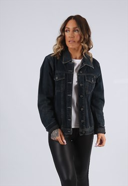 Denim Jacket QS Fitted Vintage UK 12 (K95O)