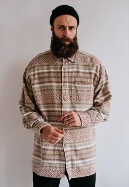 Vintage 90s hippie aztec shirt