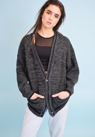 90'S RETRO GRUNGE KNITTED JAZZY DADS CARDIGAN