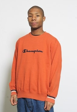 Vintage Champion Sweatshirt Orange