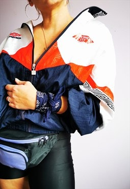 Vintage 90's color block shell windbreaker bomber jacket