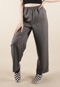 Vintage 90s Grey Cigarette Trousers /MM1450