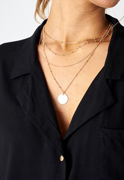 Deniyse Layered Gold Coin Necklace