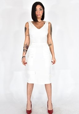 Dolce & gabbana long white dress