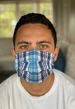 Summer Plaid Fashion Face Covering