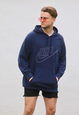 Nike USA 90s Vintage Midnight Blue Hooded Sweat