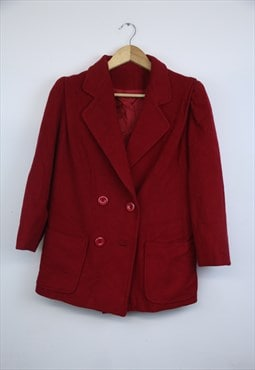 Vintage red wool jacket