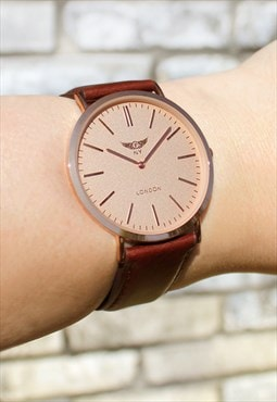 Super Slim Rose Gold Watch