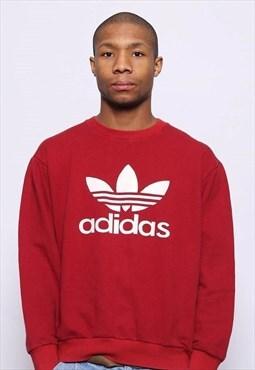 Vintage Adidas Big Logo   Sweatshirt Red