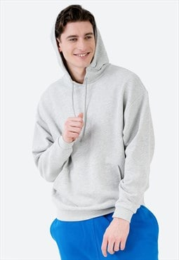 Oversized Hoodie in Grey with Pouch Pocket