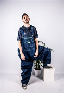 Vintage Liberty Dungarees in Blue Denim