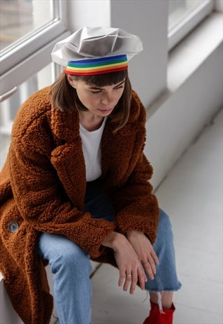 RAINBOW RAINCOAT FABRIC BERET HAT