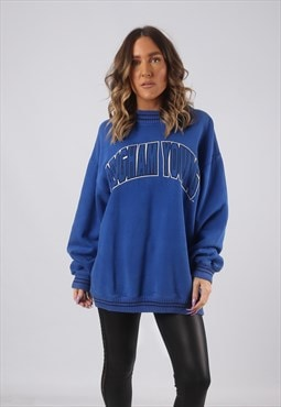 Sweatshirt Jumper Oversized PRINT Logo UK 16 - 18 (CKHN)