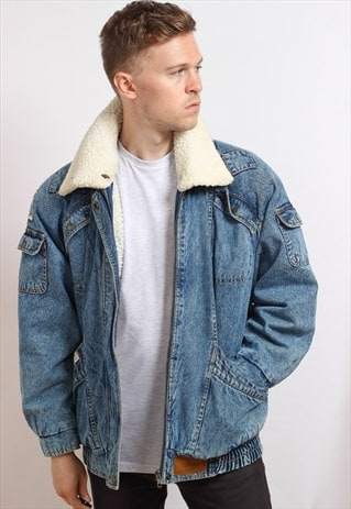 VINTAGE FLEECE LINED DENIM JACKET