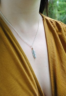 MoonChild Feather pendant necklace