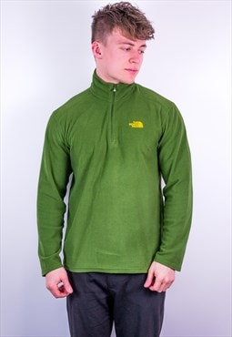 Vintage The North Face 1/4 Zip Fleece Sweatshirt in Green