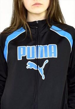 Vintage Puma track jacket in black and