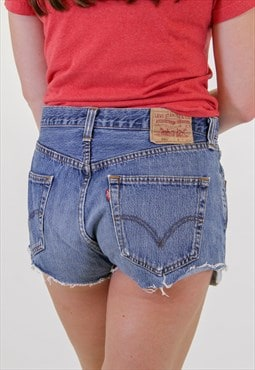 Vintage Levis Dark Blue Denim Shorts