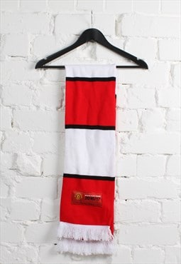 Vintage Manchester United Scarf in Red & White