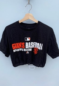 Giants Baseball Reworked Crop Top T-shirt MLB [M]