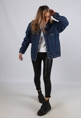 Vintage Denim Jacket Oversized Fitted UK 18 XXL (B6D)