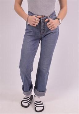 Gianfranco Ferre Womens Vintage High Waist Jeans W28 L32 Blu