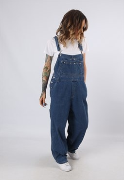 Denim Dungarees ON FIRE Wide Leg UK 14 (G62W)