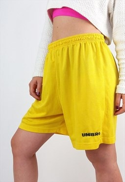 Vintage Umbro Football Shorts in Yellow