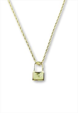 SID padlock necklace