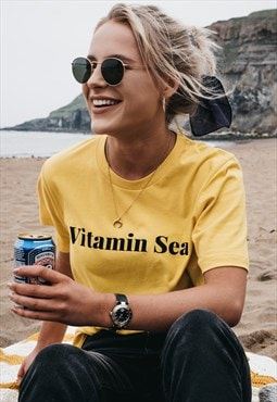 'Vitamin Sea' T-Shirt in Yellow