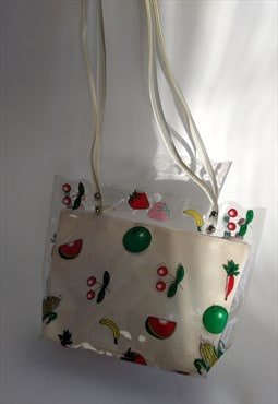Vintage Transparent PVC Market Bag