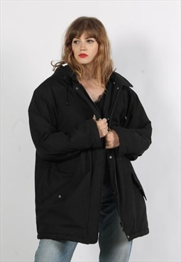 Vintage 90's Oversize Padded Jacket Black
