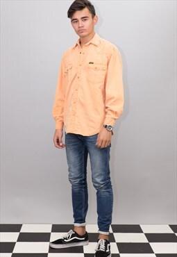 Peach Wrangler Denim Shirt