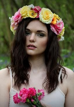 Meadow mixed flower crown