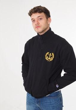 Vintage Champion Evans 1/4 Zip Sweatshirt Black