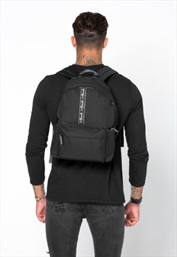Tape Rucksack Backpack Bag - Black
