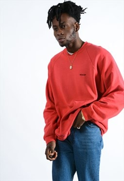 Vintage Fruit of the Loom Sweatshirt in red with logo