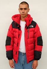 The North Face baltoro puffer jacket, red