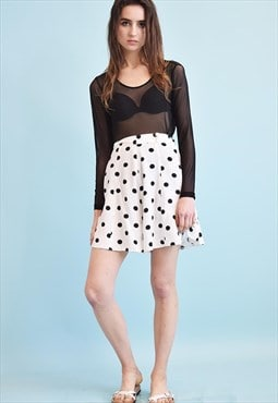 90's retro polka dot Paris chic shorts culottes