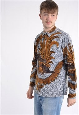 Vintage Abstract Crazy Patterned Festival Shirt