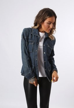 Denim DKNY 'Shirt Style' Jacket LIGHTWEIGHT UK 10 (E73R)