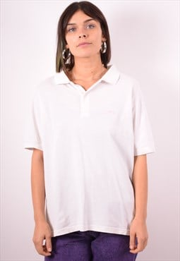 Levi's Womens Vintage Polo Shirt XL White 90s