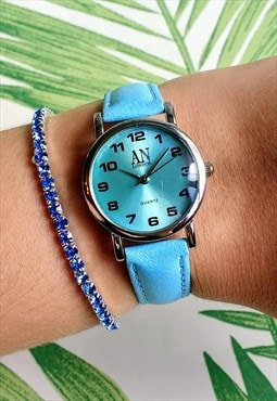 Classic Super Slim Pastel Blue Watch