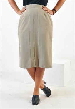Vintage midi skirt in beige