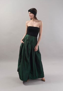 Lovely Green Long Maxi Skirt/ High or Low Waist F1819
