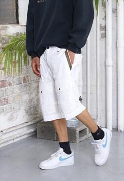 Vintage Stone Island Shorts White